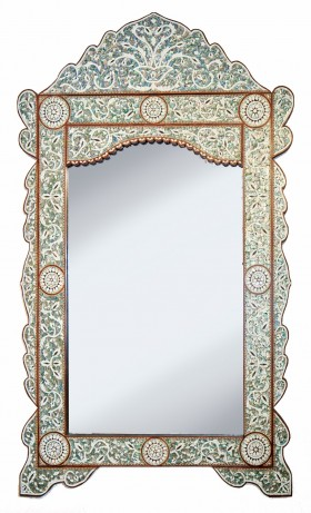 Large detailed Mother of Pearl Mirror