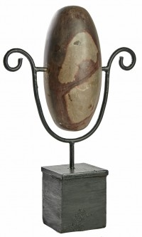 Lingam Stone on stand