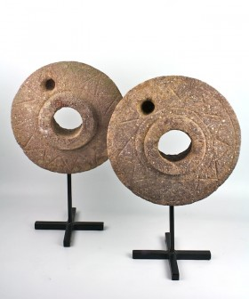 Stone Grinding Wheel on Stand