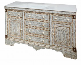 White Mother of Pearl Buffet / Dresser