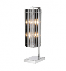 Lico Nickel Table Lamp with smoke glass