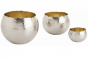 Hammered Solid Brass set of 3 containers